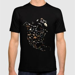Wild North America map T-shirt