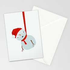 Hanging Snowman Stationery Cards