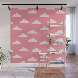 Clouds Pink Wall Mural