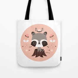 Spring Day Raccoon Tote Bag