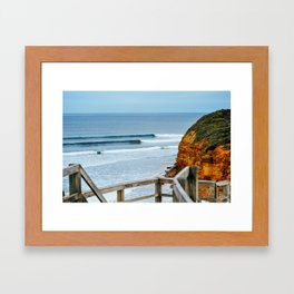 Sets, Bells Beach, Victoria, Australia Framed Art Print