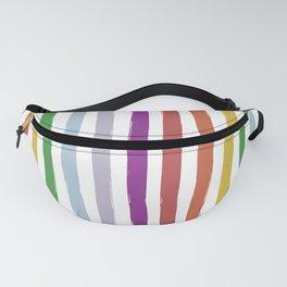 LGBTQ Rainbow Flag Cabana Stripes Fanny Pack