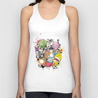 doodle Tank Tops featuring Doodle by Flavio Augusto Maidl