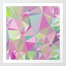 Colorful Triangles 3 Art Print