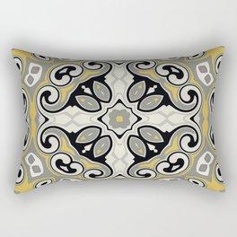 Edwardian Geo Yellow Grey Rectangular Pillow