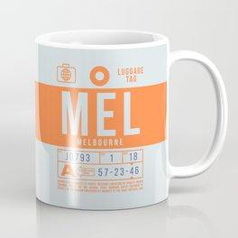 Luggage Tag B - MEL Melbourne Australia Coffee Mug