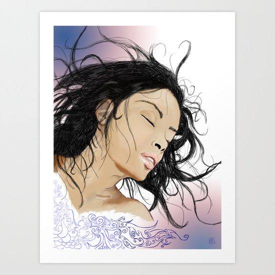 Serena. Art Print