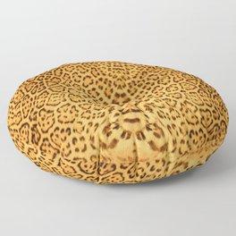 Brown Beige Leopard Animal Print Floor Pillow