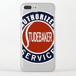 Authorized Studebaker Service vintage sign Clear iPhone Case