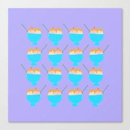 Ice Cream Sundae Print Purple Canvas Print