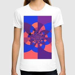 Kaleidoscope Purple Melon Cobalt Blue T-shirt