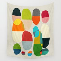 pills Wall Tapestries featuring Jagged little pills by Picomodi