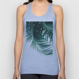Palm Leaves Green Vibes #4 #tropical #decor #art #society6 Unisex Tank Top