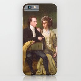 Joseph Wright of Derby - The Rev and Mrs Thomas Gisborne, of Yoxhall Lodge, Leicestershire iPhone Case