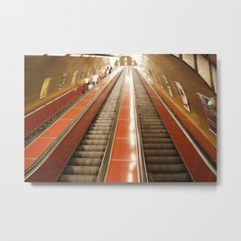Keep Moving Up - Life is a Journey! Metal Print