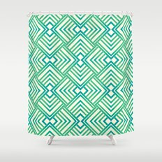Mint&blue Shower Curtain