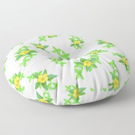 Airy Floral Pattern Floor Pillow