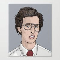 napoleon dynamite Canvas Prints featuring Napoleon Dynamite  by Steph Bourne