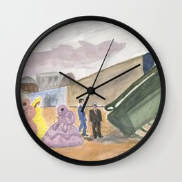 Sessions Greets 45 on the Tarmac Wall Clock