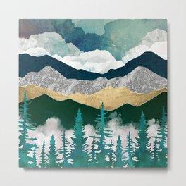 Misty Pines II Metal Print