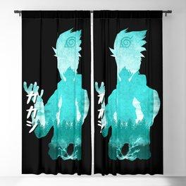 Minimalist Silhouette Teacher Blackout Curtain
