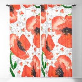 Geometric mandala and flowers Blackout Curtain