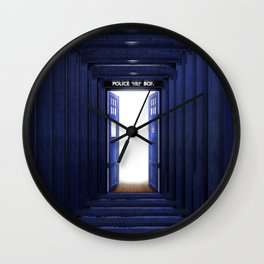 New World Tardis Wall Clock