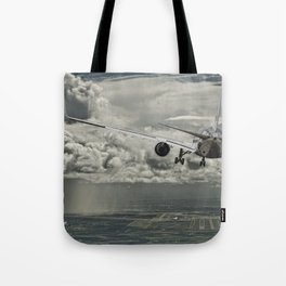Stormy approach Tote Bag