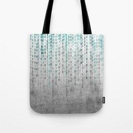 Concrete Binary Code Tote Bag