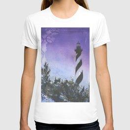 Cape Hatteras lighthouse- Outer Banks, North Carolina at sunset.  Lighthouse decor T-shirt
