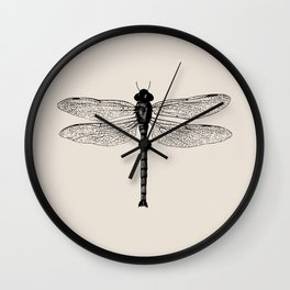 Botanical Line - Dragonfly Wall Clock