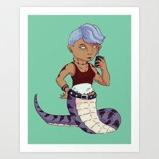 Lamia Lass Art Print