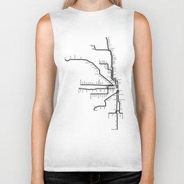 Chicago CTA Map, Chicago Map Art, CTA Art, Chicago Wall Art, Chicago Art, L Train, Art Print Biker Tank