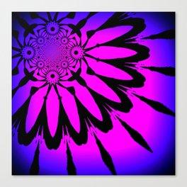 The Modern Flower Fuchsia Purple Ombre Canvas Print