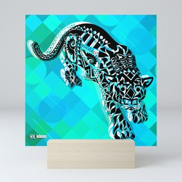 Cougar from the blue Sky ecopop Mini Art Print