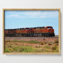 Orange BNSF Engines Serving Tray