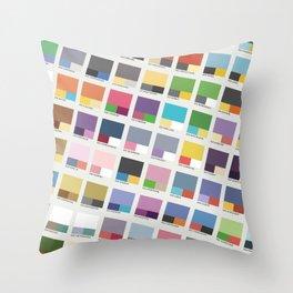 Poke-Pantone 4 (Sinnoh Region) Throw Pillow