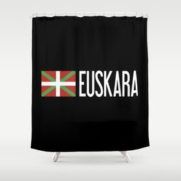 Basque Country: Basque Flag & Euskara Shower Curtain