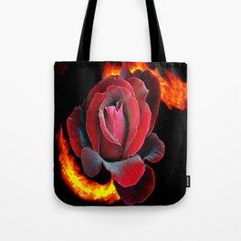 FireRose Tote Bag
