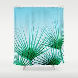 Airhead - memphis throwback retro vintage ombre blue palm springs socal california dreamer pop art Shower Curtain