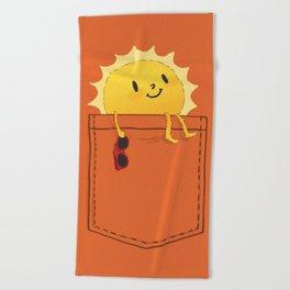 Pocketful of sunshine Beach Towel
