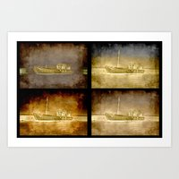 ships Art Prints featuring Ships by Anki Hoglund