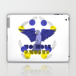 No More Ghosts - Glaucous Macaw Laptop & iPad Skin