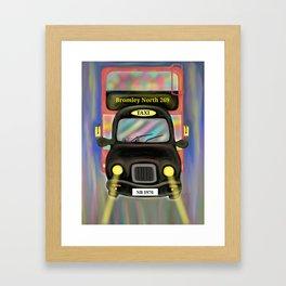 London Commute Framed Art Print