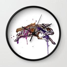 Geometric Rabbit Wall Clock
