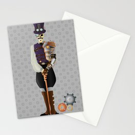 Steampunk Skeleton Stationery Cards