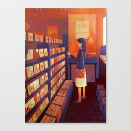 record shop Canvas Print