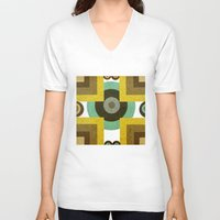 antique V-neck T-shirts featuring antique by simay