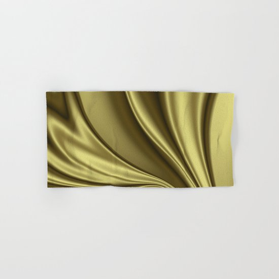 Abstract Fractal Colorways 02 Simple Gold Hand & Bath Towel