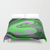 "malachite Duvet Covers featuring "" Malachite ""  by shiva camille"